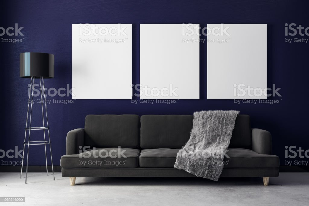Modern living room with billboard - Royalty-free Apartment Stock Photo