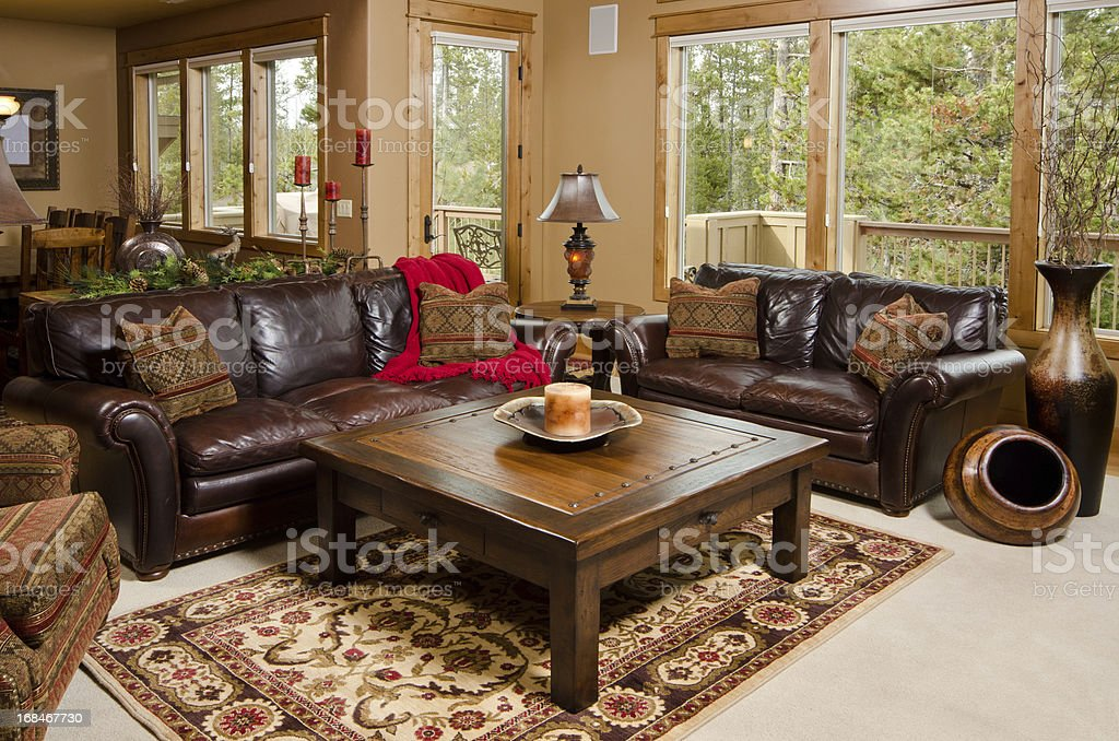 Modern living room with furnishing stock photo