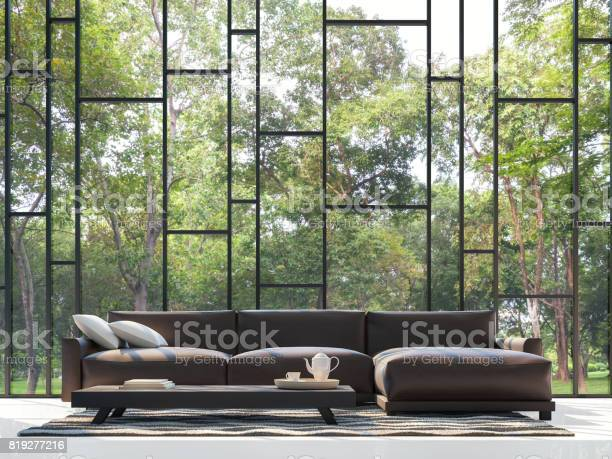 Modern living room with garden view 3d rendering image picture id819277216?b=1&k=6&m=819277216&s=612x612&h=spcdss1crymut15g7hschiqcinxhshmn2fbs2plbzw0=