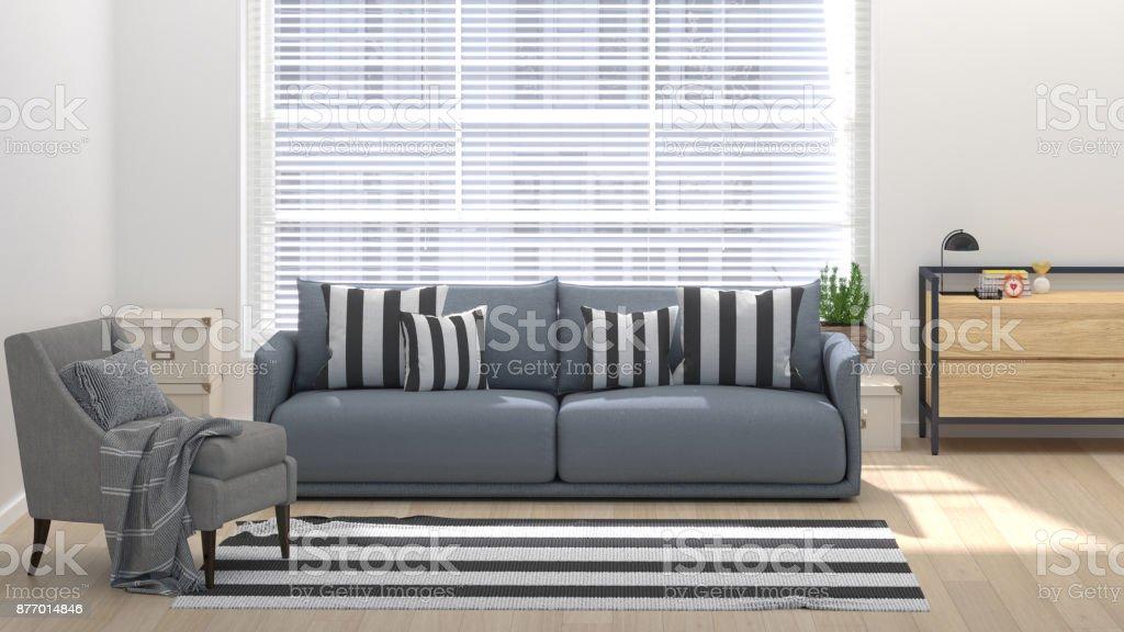 Salon moderne avec intérieur de maison d illustration maison