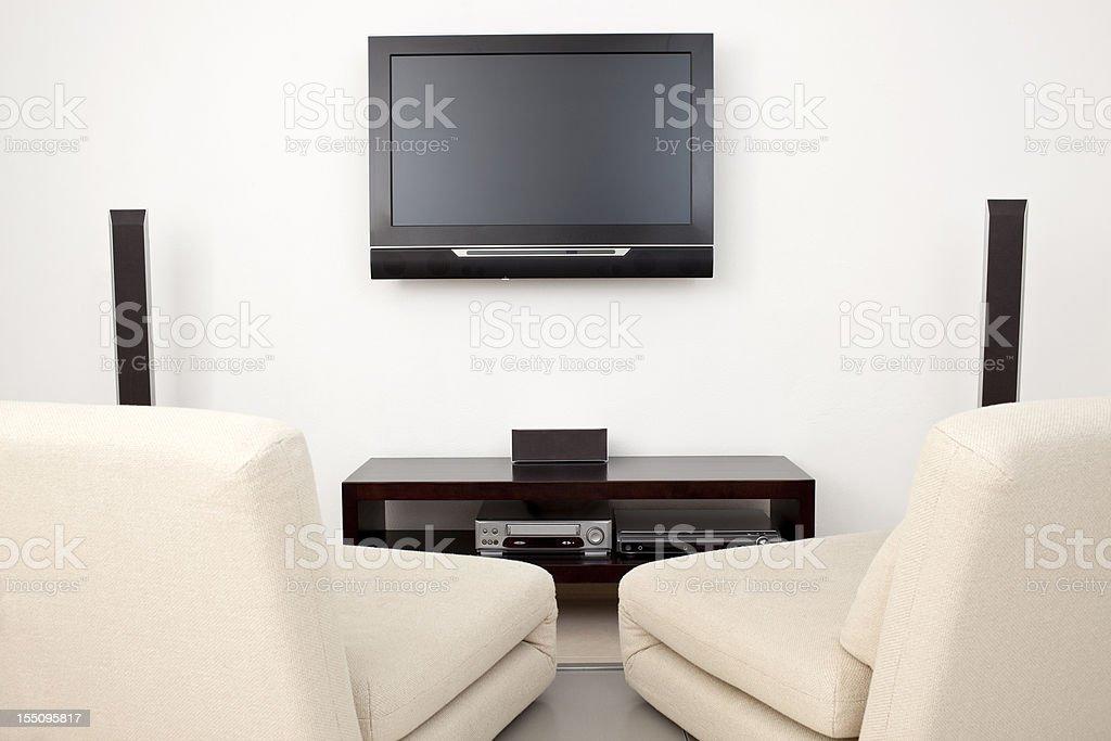 Moderne Wohnzimmer Mit Plasmatvwand Stockfoto und mehr ...