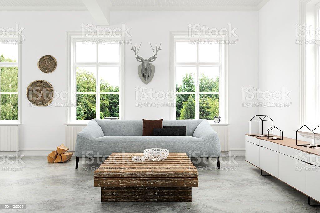 Modern Living room with sofa and armchairs - Photo de 2016 libre de droits