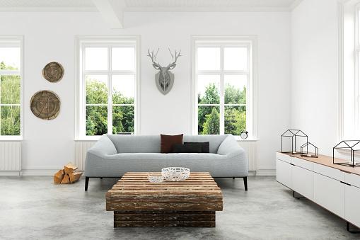 Photo libre de droit de Modern Living Room With Sofa And Armchairs banque d'images et plus d'images libres de droit de 2016