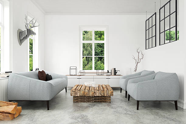 Modern Living room with sofa and armchairs - Photo