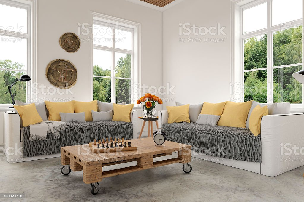 Modern Living room with sofa and armchairs – Foto