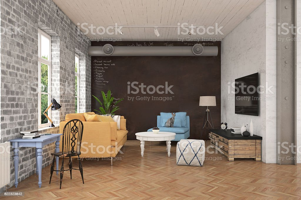 Photo de stock de Moderne De Salon Avec Canapé Et Fauteuils ...