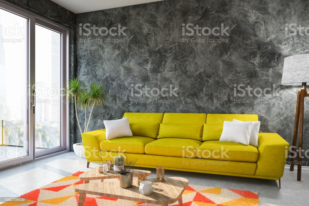 Modern Living Room With Sofa Stock Photo Download Image Now Istock