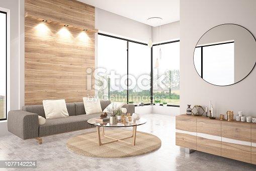 istock Modern Living Room with Sofa 1077142224