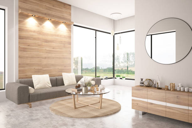 Modern Living Room with Sofa Modern living room interior with sofa modern house stock pictures, royalty-free photos & images