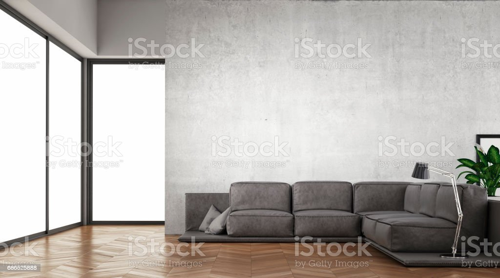 Modern living room with sofa foto stock royalty-free