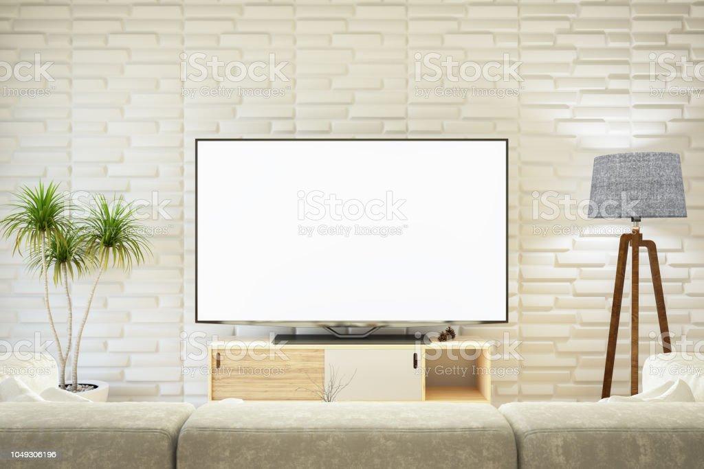 Photo libre de droit de Salon Moderne Avec Tv banque d ...