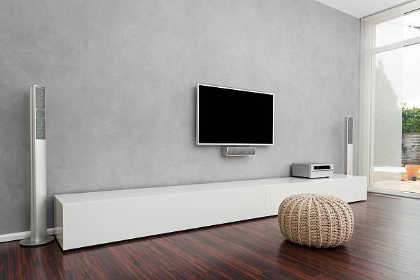 Modernen Wohnzimmer mit Fernseher – Foto