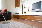 a detail of a modern living room,