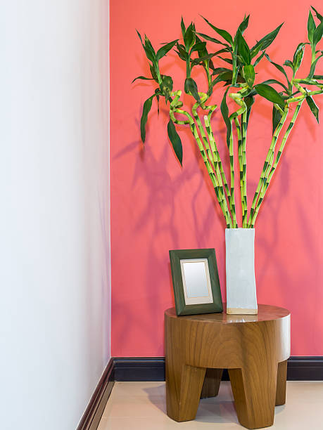 Royalty Free Modern Living Room With Vase Of Lucky Bamboo Asian Feng ...
