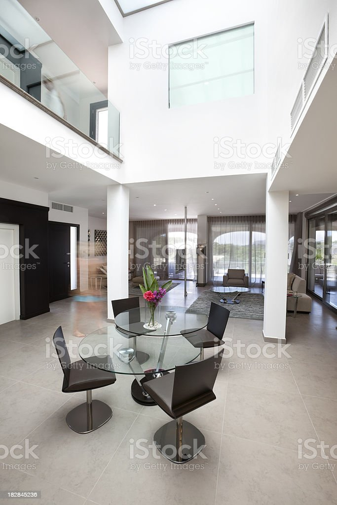 Modern Living Space with Atrium (XXXL) royalty-free stock photo