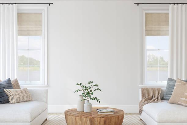 Modern living-room interior. 3d render. stock photo