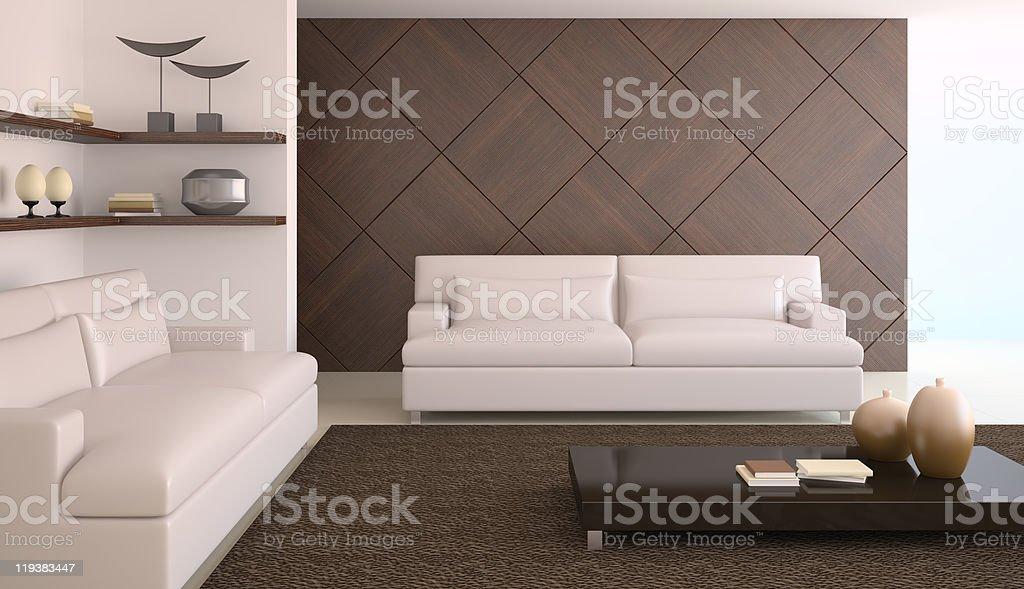 Modern living-room. royalty-free stock photo
