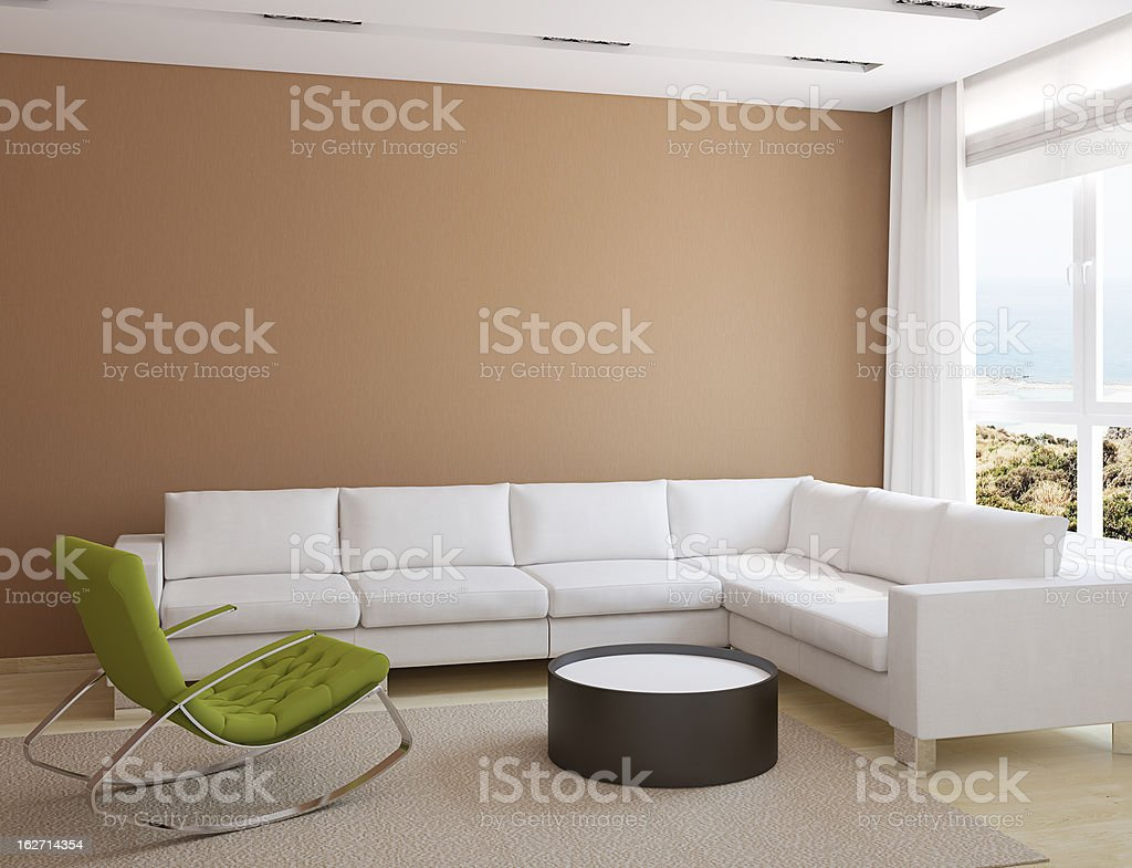 Modern living-room royalty-free stock photo