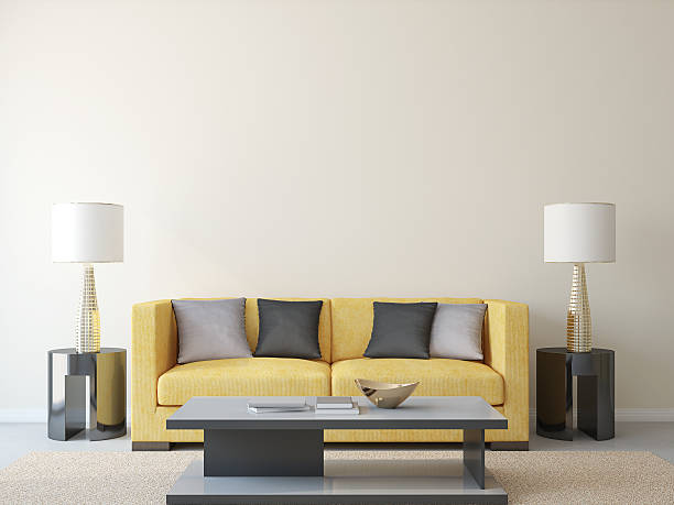 Modern living-room. stock photo