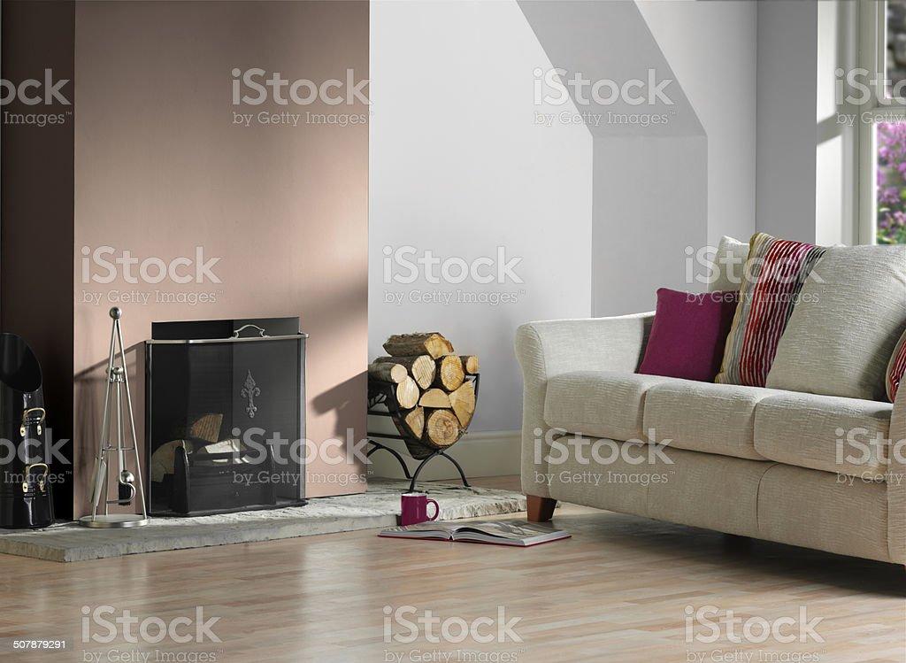 Moderne Wohnzimmer Mit Kamin Stockfoto Und Mehr Bilder Von Architektur Istock