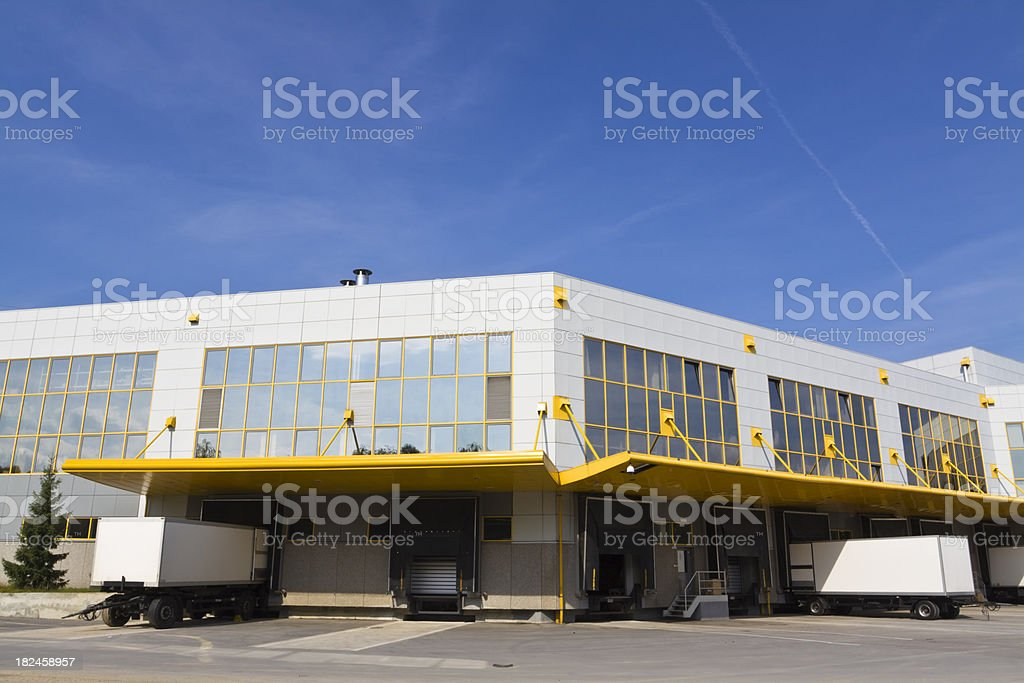 modern loading docks royalty-free stock photo