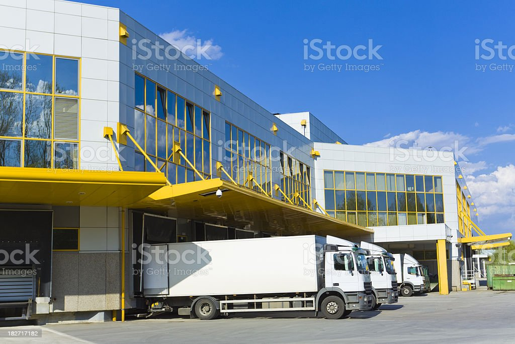 modern loading docks stock photo