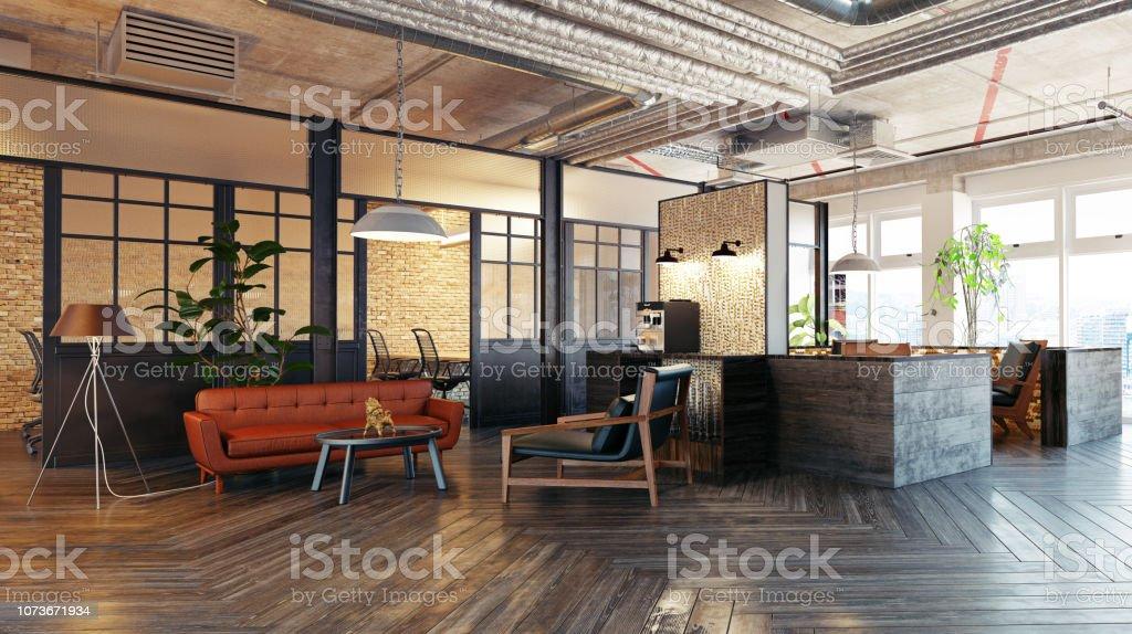 interior do átrio moderno. - Foto de stock de Apartamento Tipo Loft royalty-free