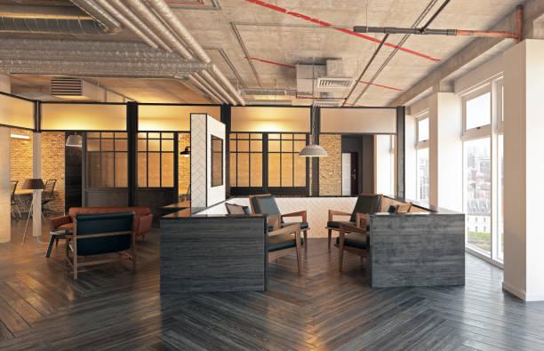 moderne lobby interieur. - raumteiler weiß stock-fotos und bilder