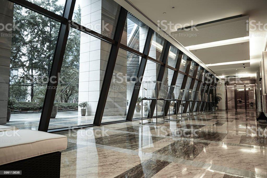 Modern lobby interior stock photo