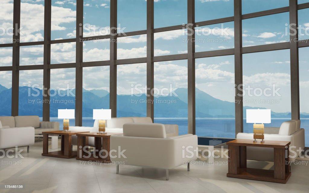 Modern Lobby Lounge Interior royalty-free stock photo