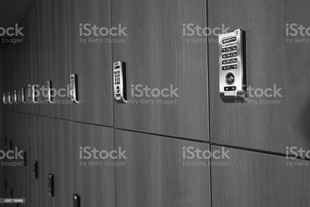 modern lockers stock photo