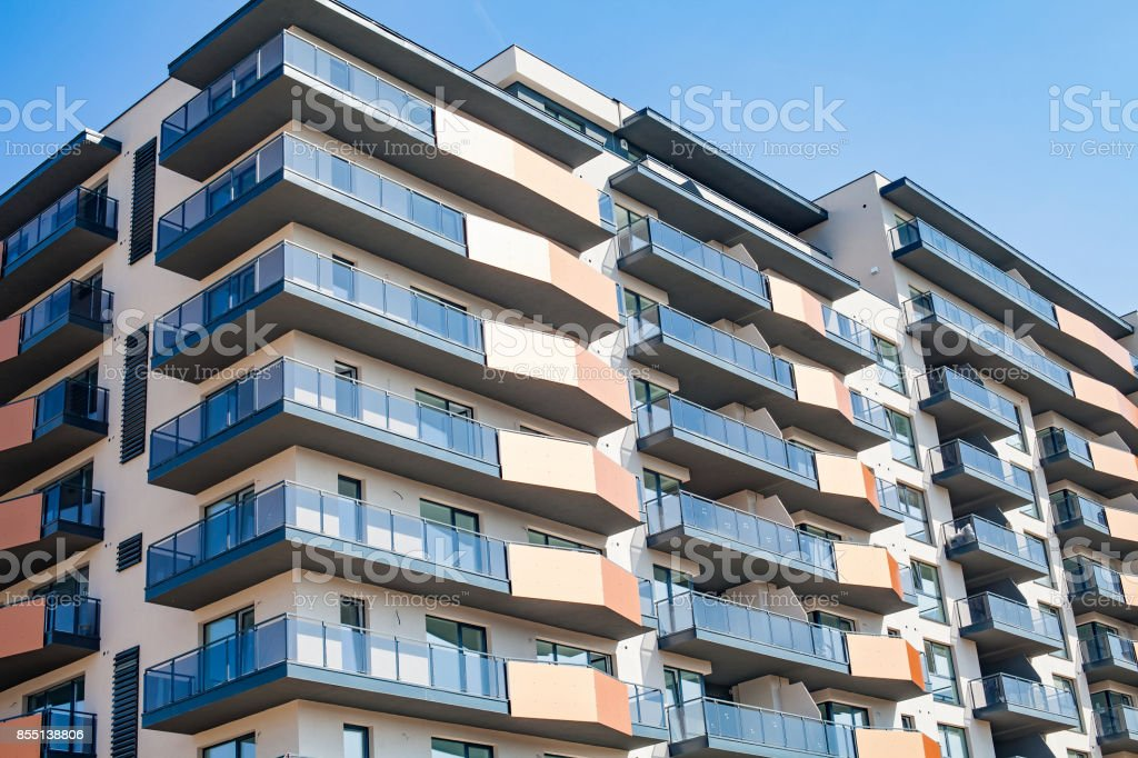 Modern lodging in Cluj-Napoca stock photo