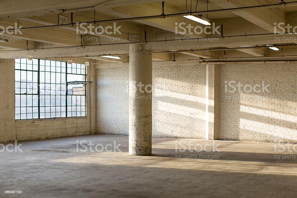 Modern Loft Apartment Warehouse Interior stock photo