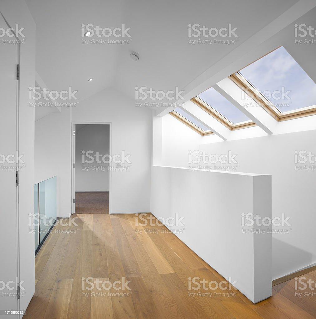 modern loft conversion royalty-free stock photo