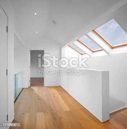modern loft conversion in the roofspace of a house