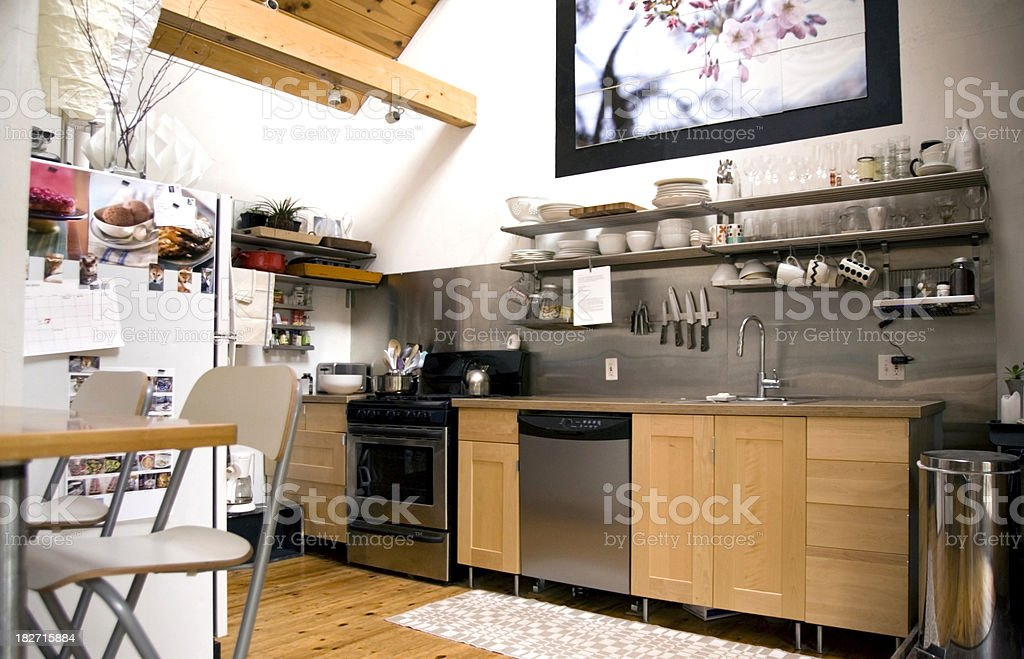 Modern loft do-it-yourself kitchen royalty-free stock photo
