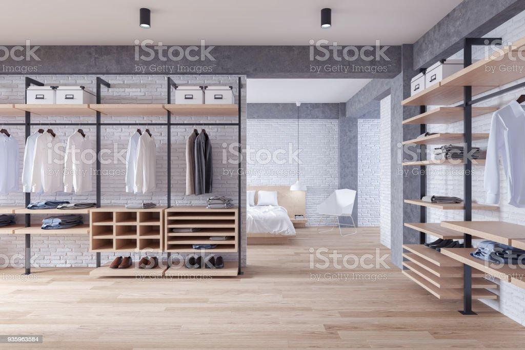 Loft Moderne Dressing Et Un Concept Dinterieur Chambre A Coucher