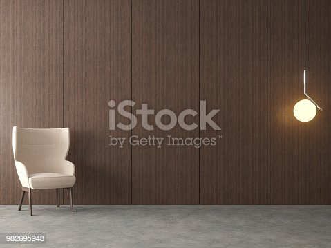 924294300 istock photo Modern loft empty room 3d render 982695948