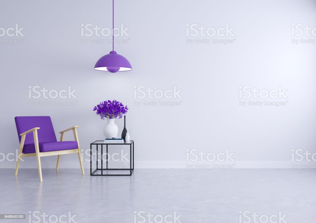 Awe Inspiring Modern Loft Interior Of Living Room With The Purple Sofa Is Theyellowbook Wood Chair Design Ideas Theyellowbookinfo