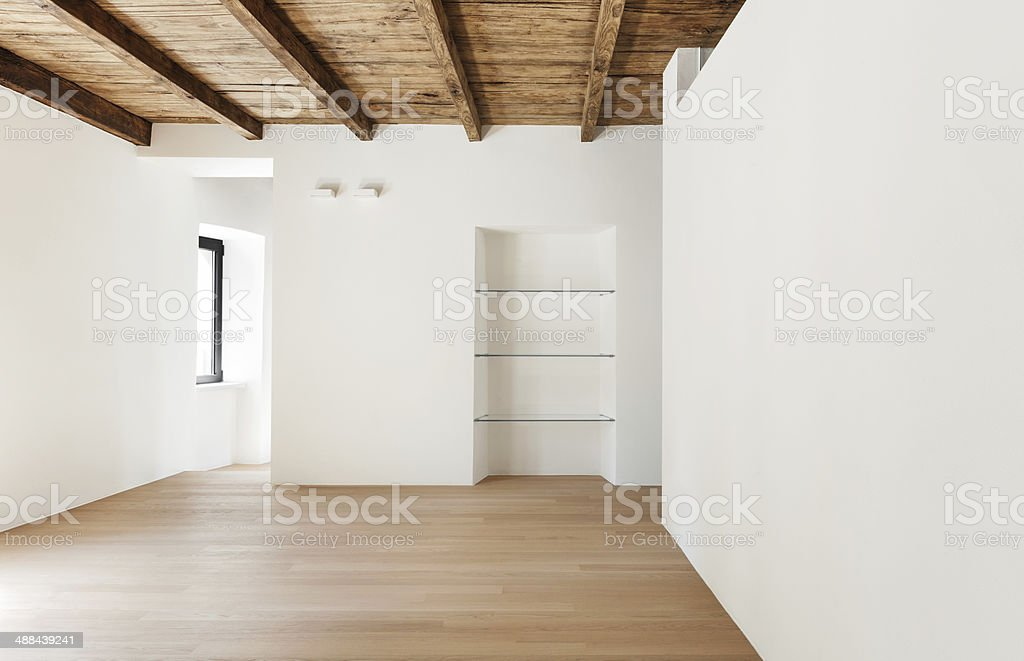 modern loft, interior, room stock photo