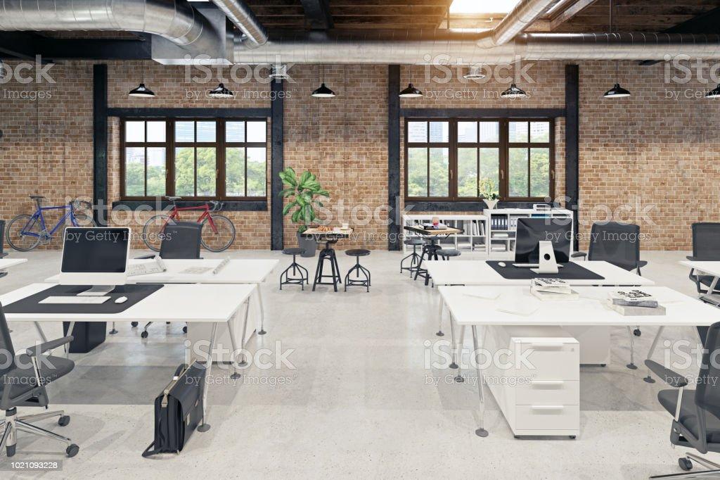 modern loft office interior royalty-free stock photo