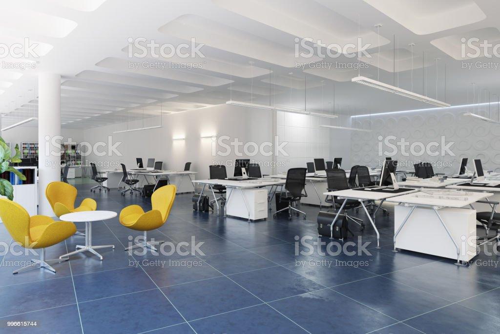 Modern Loft Office Interior Stock Photo   Download Image Now