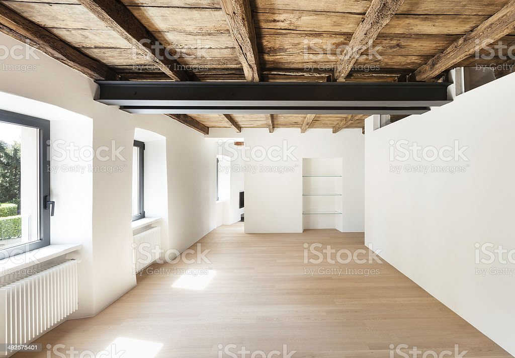 modern loft, room stock photo