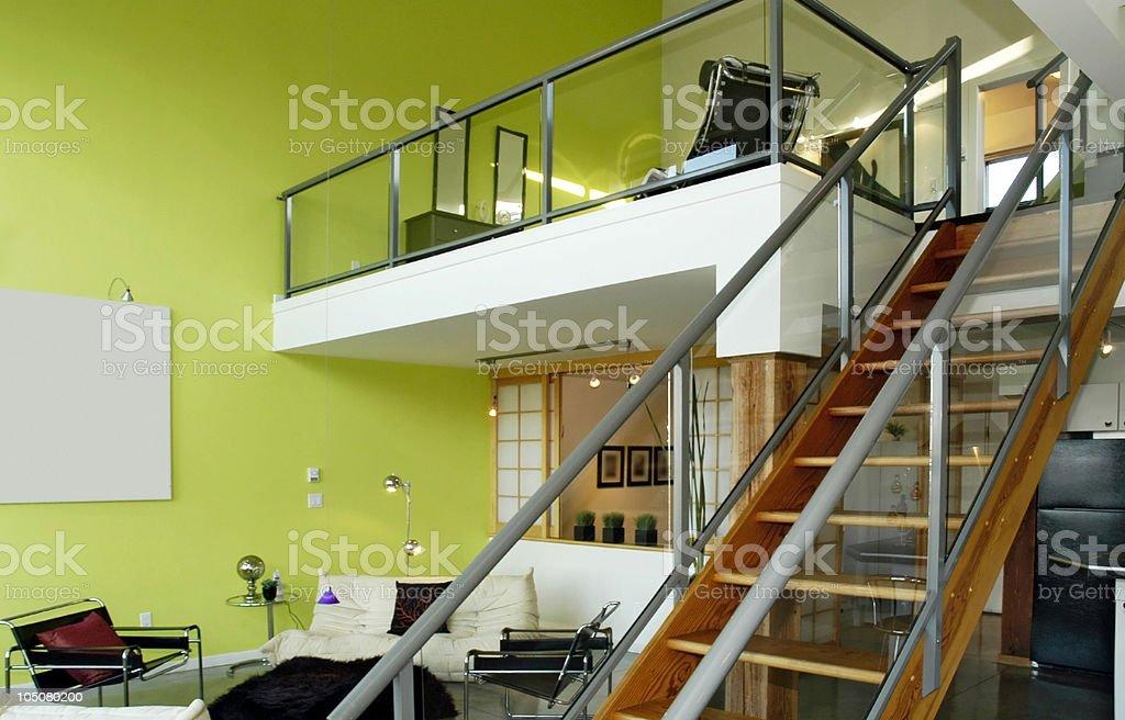 Modern Loft-Style Condominium royalty-free stock photo