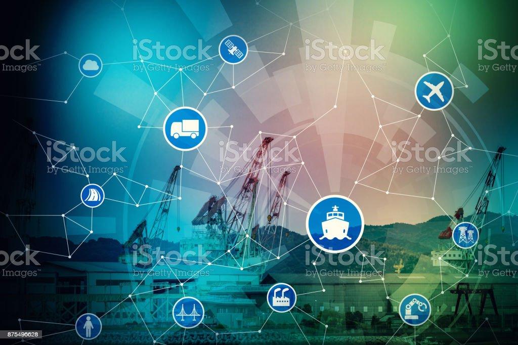 Modern logistics concept. stock photo