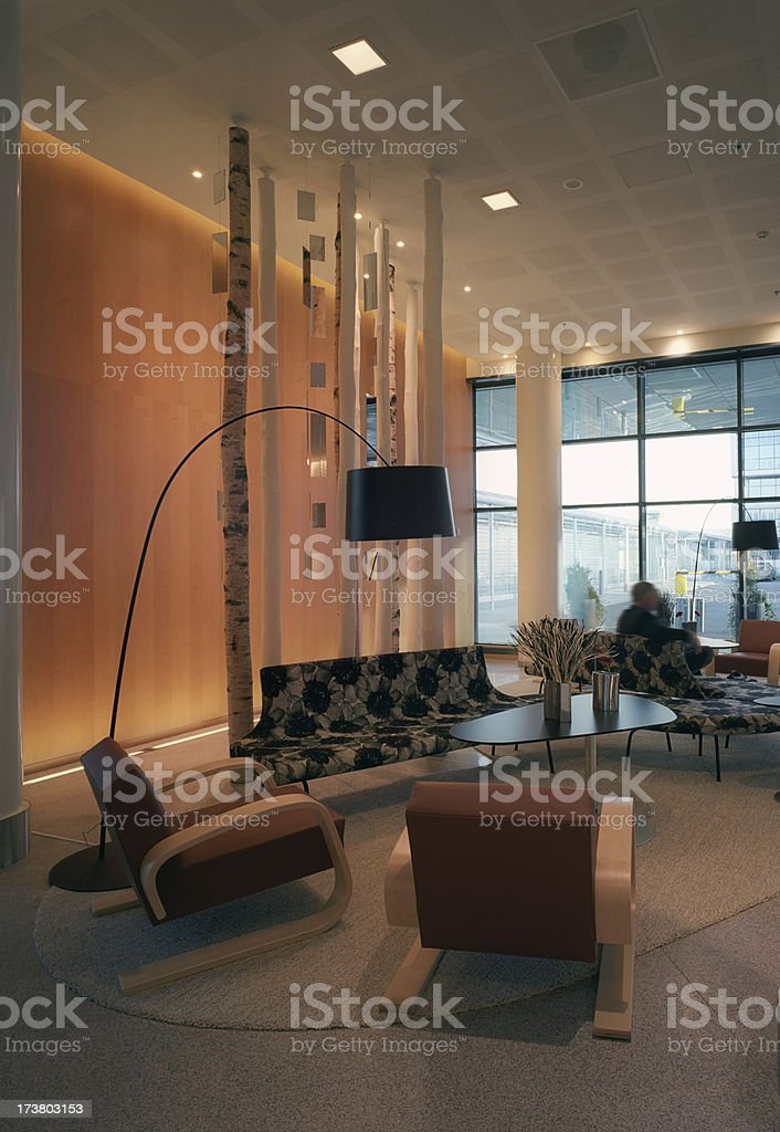 Modern lounge lobby royalty-free stock photo