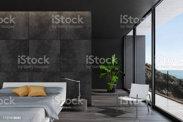 Modern luxurious black bedroom in a villa by the ocean picture id1127418562?b=1&k=6&m=1127418562&s=612x612&h=x41stxc tntvme hxz9l39dtxozbwiayb97lf9o31v8=
