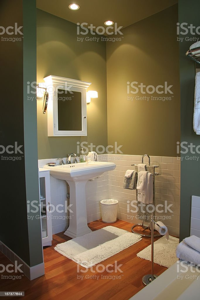 Modern Luxurious Retro Bathroom stock photo