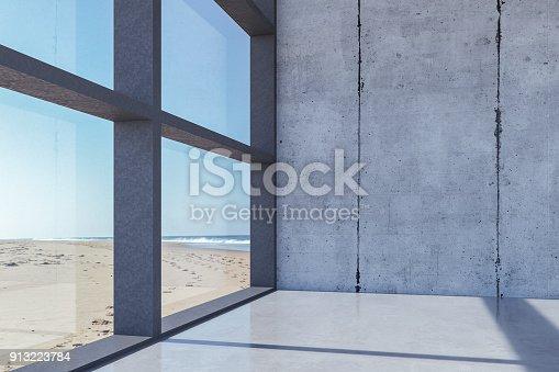 Modern luxurious seaside villa.