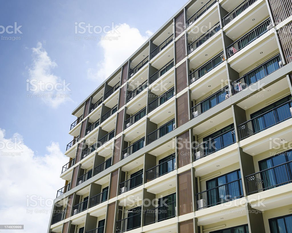 Modern Luxury Apartment Block stock photo